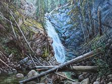 "'Tulameen Falls' - 24""x 30"" - Oil. (#0768) $4,620.00 unframed."