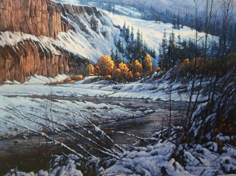 "'Coldwater River' - 24""x 30"" - Oil. (#0717) $4,620.00 unframed."