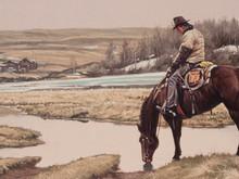 "'The Dry Farm' - 12""x 24"" - Oil. SOLD."