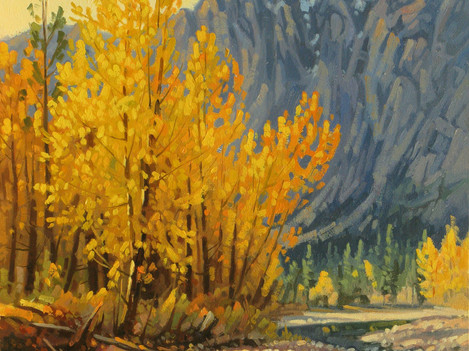 "'Autumn - Nicola River' - 8""x 10"" - Oil. SOLD."