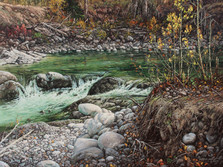 """'Spius Creek' - 24""""x 30"""" - Oil. SOLD."""