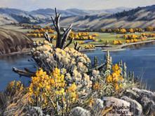 "'Quilchena - Nicola Lake' - 8""x 10"" - Oil. (#0780) $700.00 unframed."