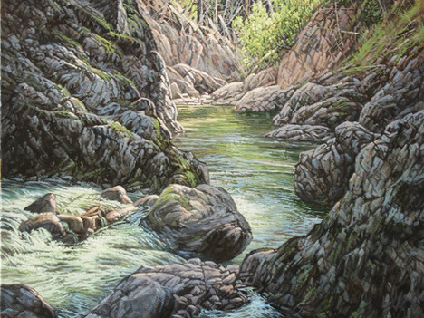 """'Lawless Creek Canyon' - 24""""x 30"""" - Oil. SOLD."""