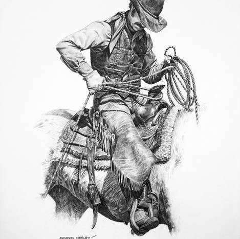 "'Terry' - 22""x 30"" - Graphite. SOLD."