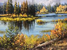 """'Kane Valley Lake' - 8""""x 10"""" - Oil. (#0779) $700.00 unframed."""