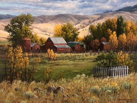 """'Quilchena Home Ranch - 16""""x 20"""" - Oil. SOLD."""