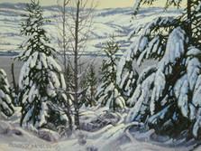 "'Monk Park In Winter' - 8""x 10"" - Oil. SOLD."