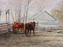 """'Morning Light at the Chutters' - 15""""x 30"""" - Oil. SOLD."""