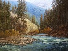 """'Lawless Creek - Tulameen' - 30""""x 40"""" - Oil. (#0716) $7,700.00 unframed."""