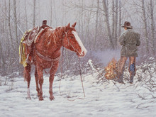 """'Snow Comes Early on the Courtney' - 24""""x 36"""" - Acryllic. SOLD."""