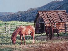 "'Barn Yard Family' - 6""x 12"" - Acryllic. SOLD."