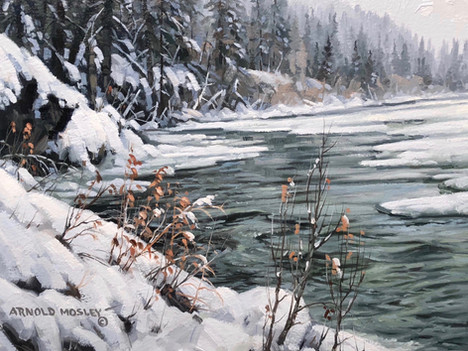"""'Grey Winter Day' - 8""""x 10"""" - Oil. SOLD."""