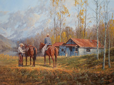 """'Home Away From Home' - 30""""x 40"""" - Oil. (#0720) $7,700 unframed."""