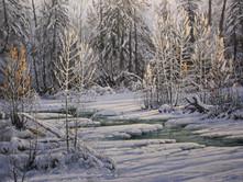 "'Winter Shadows' - 24""x 30"" - Oil. (#0767) $4,620.00 unframed."