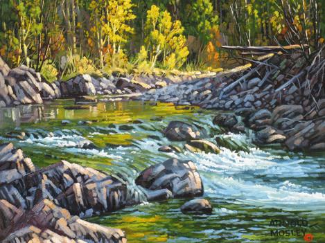 """'Autumn - Spius Creek' - 8""""x 10"""" - Oil. SOLD."""