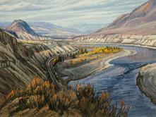 """'Thompson River' - 8""""x 10"""" - Oil. (#0733) $700.00 unframed."""