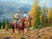 """'A Ride Into the High Country' - 16""""x 20"""" - Oil. SOLD."""