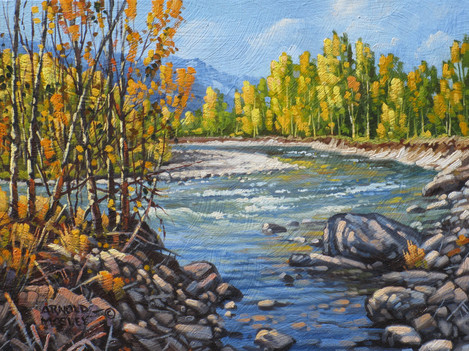 """'Autumn - Coldwater River - 8""""x 10"""" - Oil. SOLD."""