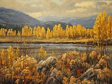 "'Autumn Along the Nicola River' - 8""x 10"" - Oil. (#0738) $700 unframed."