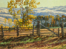 "'Douglas Lake Ranchland' - 6""x 8"" - Oil. (#0730) $525.00 unframed."