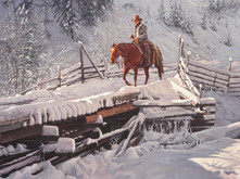 """'Winter Comes To Allison Creek' - 20""""x 30"""" - Oil. SOLD."""