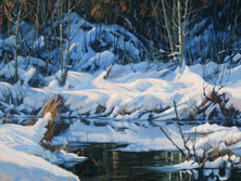 """'Spring Thaw' - 14""""x 18"""" - Oil. SOLD."""