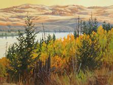 """'Autumn - Nicola Lake' (#3) - 8""""x 10"""" - Oil. SOLD."""