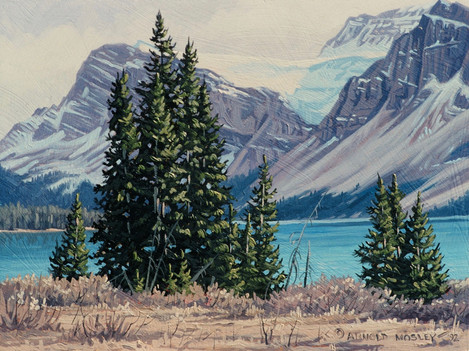 """'Bow Lake' (#1) 6""""x 8"""" - Oil. SOLD."""