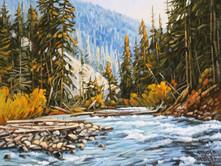 """'Lawless Creek' - 8""""x 10"""" - Oil. (#0726) $700.00 unframed."""
