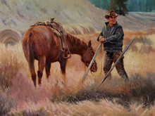 """'Coming Through' - 24""""x 30"""" - Oil. SOLD."""