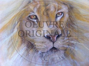 Poil de carotte-Portrait de lion- 32.5X3