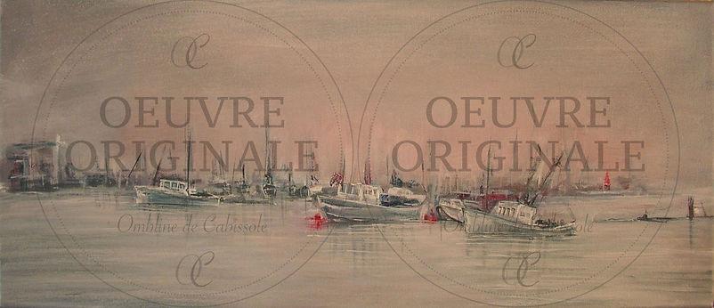Clair de Lune-Paysage maritime-20x50x4cm