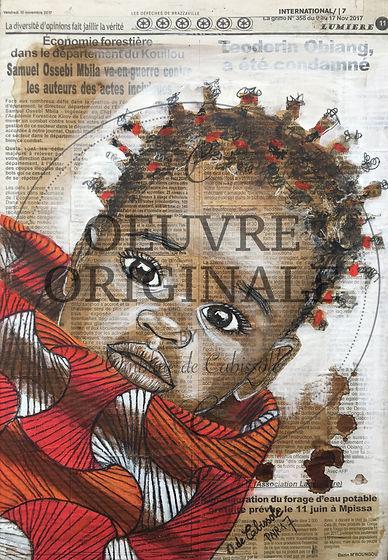 Wax attitude- Mwana pagne bicolore rouge