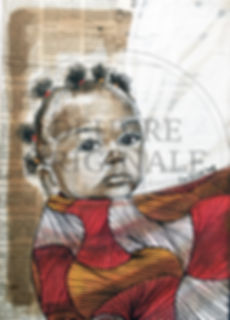 Wax attitude- Mwana au dos pagne bicolor