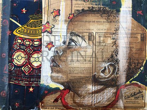 """Carte postale Mwana """"Sous les étoiles"""""""