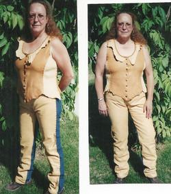 Custom Vest w/ Leather Layered Pants