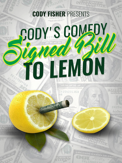 Cody's Comedy Signed Bill To Lemon (Complete Kit)
