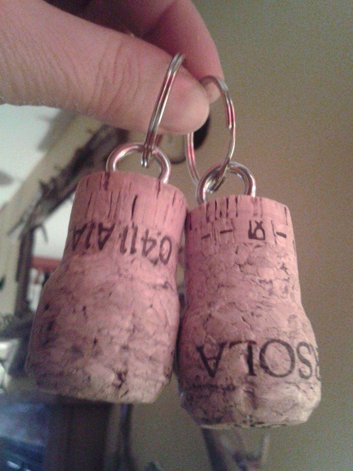 Cork Keyrings