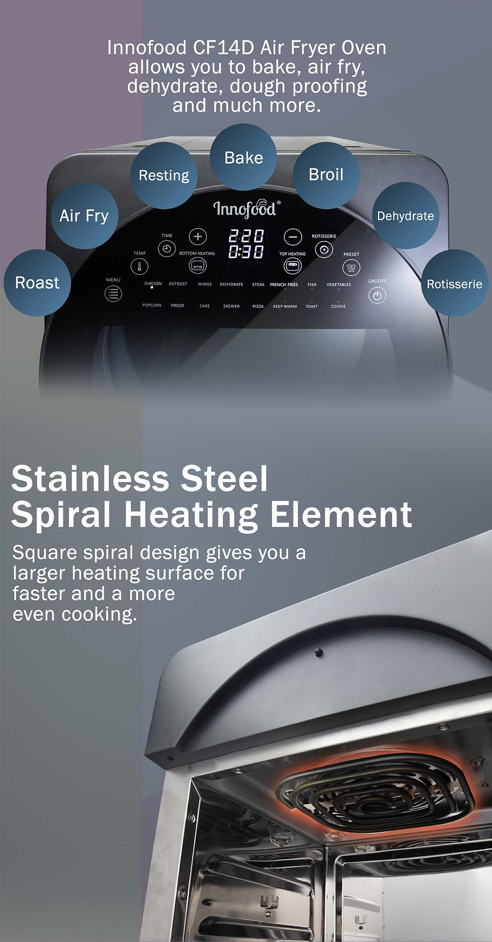 Innofood Digital Air Fryer Oven