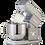 Thumbnail: Innofood KT-7600 Professional Series Stand Mixer 7.0 Liters (Grey)