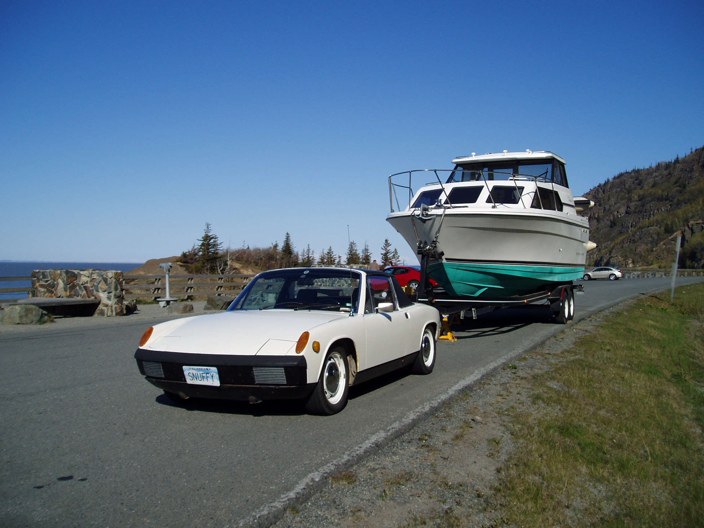 2007 road trip to Seward - Snuffy towing a boat!!