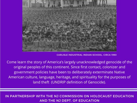 CNA event: Acknowledging America's Genocide of Native Americans