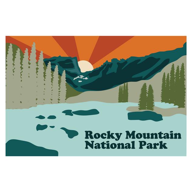 Rocky Mountain National Park- Sticker Logo