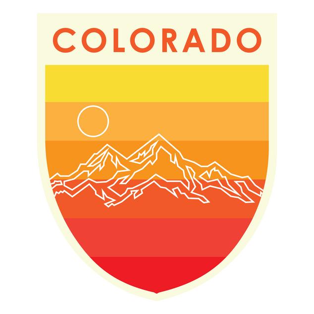 Colorado Badge Warm Colors