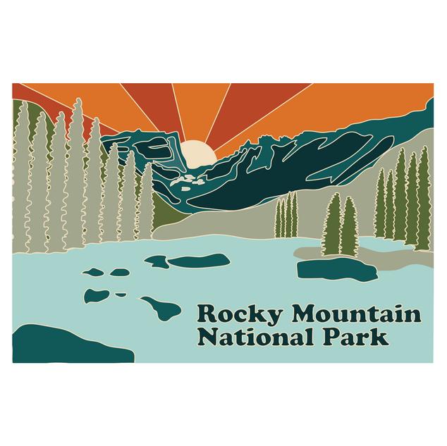 Rocky Mountain National Park- Pin Logo