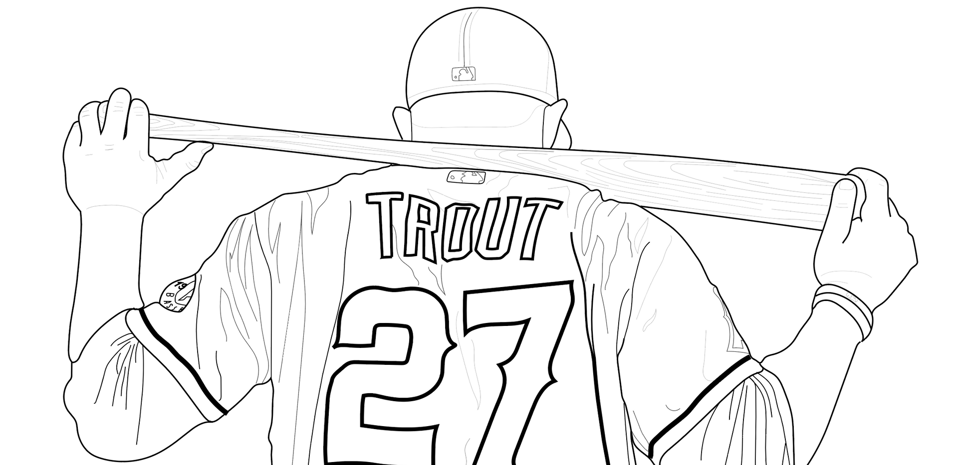 Sketch of Mike Trout