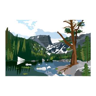 Dream Lake Illustration