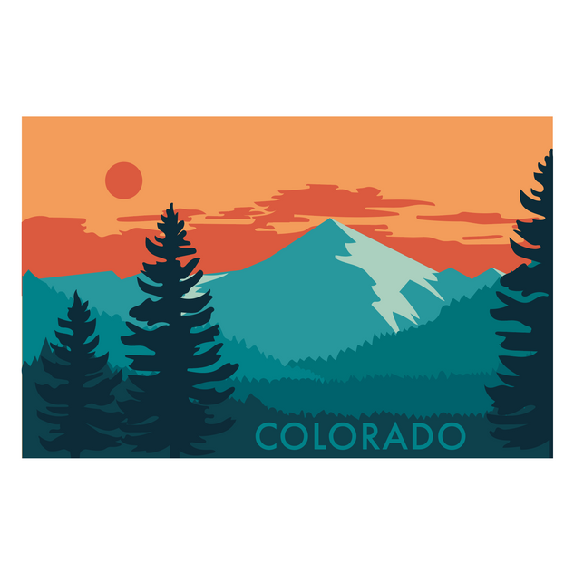 Colorado Mountains at Sunset