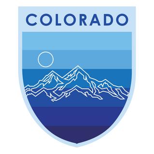 Colorado Badge Cool Colors