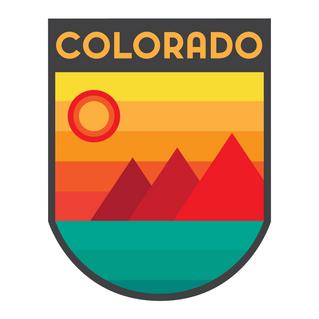 Colorful Colorado Badge Minimalistic
